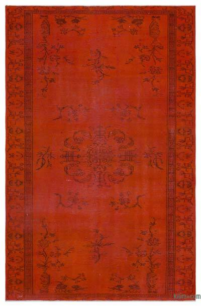 "Over-dyed Turkish Vintage Rug - 5'2"" x 8' (62 in. x 96 in.)"