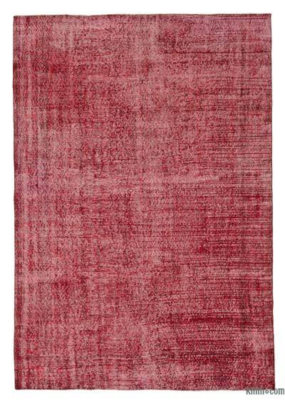 "Over-dyed Turkish Vintage Rug - 6'11"" x 10'2"" (83 in. x 122 in.)"