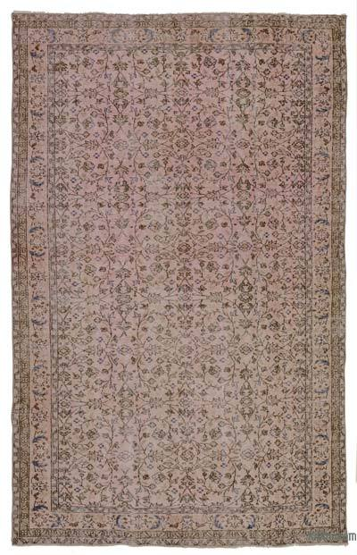 Pink Over-dyed Turkish Vintage Rug - 5'11'' x 9'5'' (71 in. x 113 in.)