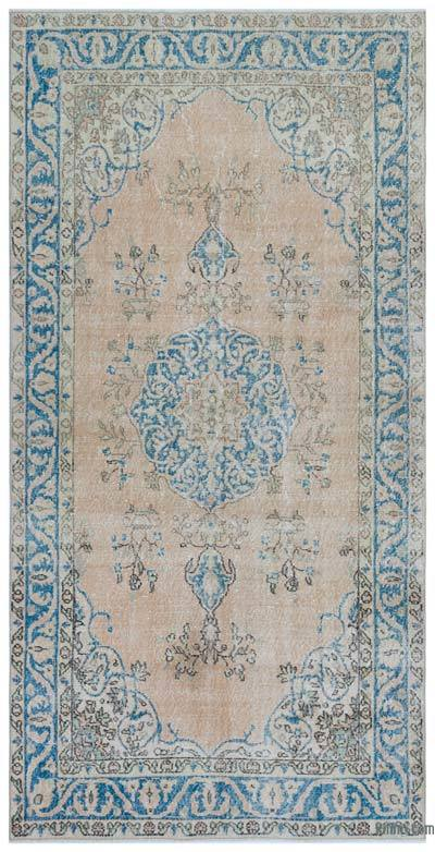 "Turkish Vintage Area Rug - 4'7"" x 9'2"" (55 in. x 110 in.)"