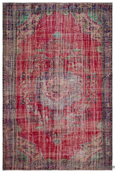 Turkish Vintage Rug - 6'7'' x 9'9'' (79 in. x 117 in.)
