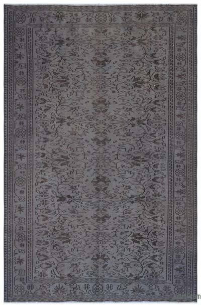 Grey Over-dyed Turkish Vintage Rug - 5'2'' x 8' (62 in. x 96 in.)