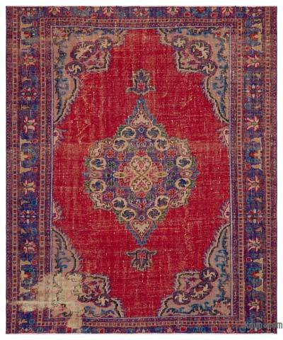 "Turkish Vintage Area Rug - 7'1"" x 8'7"" (85 in. x 103 in.)"