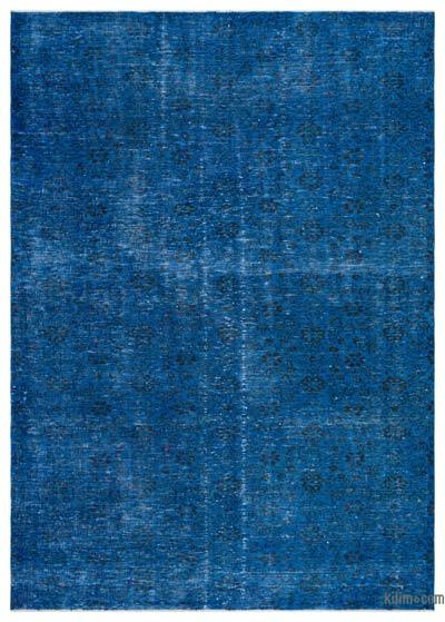 Blue Over-dyed Turkish Vintage Rug - 6'1'' x 8'7'' (73 in. x 103 in.)