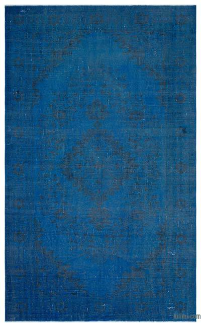 Blue Over-dyed Turkish Vintage Rug - 5'10'' x 9'6'' (70 in. x 114 in.)
