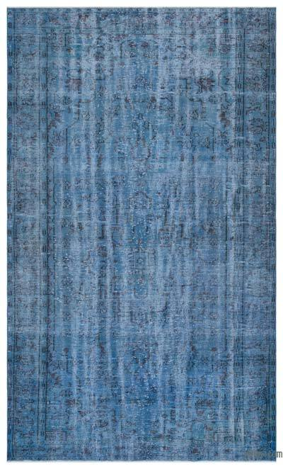 Blue Over-dyed Turkish Vintage Rug - 6' x 9'8'' (72 in. x 116 in.)