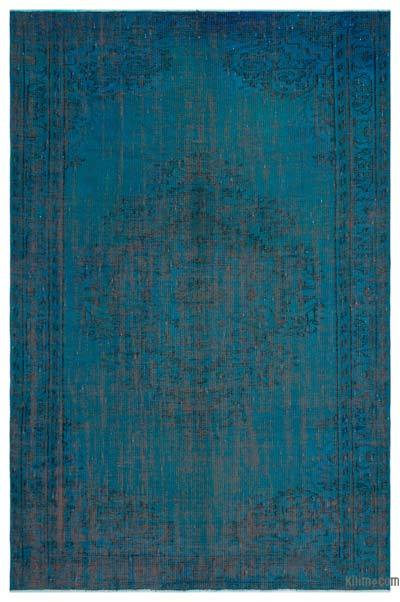 Turquoise Over-dyed Turkish Vintage Rug - 5'10'' x 8'10'' (70 in. x 106 in.)