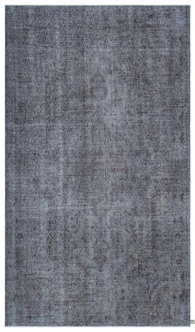 Grey Over-dyed Turkish Vintage Rug - 5'8'' x 9'9'' (68 in. x 117 in.)