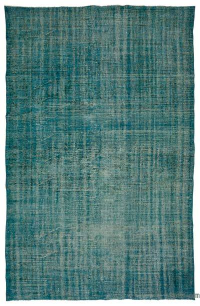 Turquoise Over-dyed Turkish Vintage Rug - 5'8'' x 9' (68 in. x 108 in.)