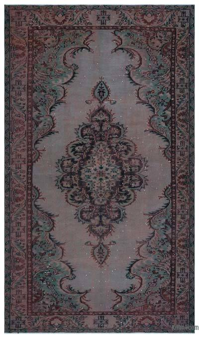 Over-dyed Turkish Vintage Rug - 5'9'' x 10'1'' (69 in. x 121 in.)