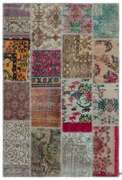 Turkish Patchwork Rug - 3'11'' x 5'11'' (47 in. x 71 in.)