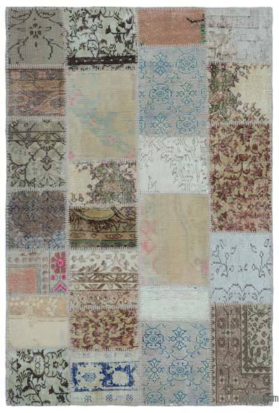 "Turkish Patchwork Rug - 3'11"" x 5'11"" (47 in. x 71 in.)"