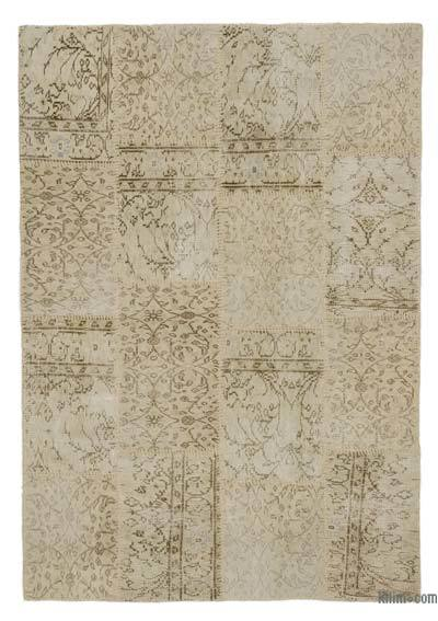Over-dyed Turkish Patchwork Rug - 4'4'' x 6'3'' (52 in. x 75 in.)