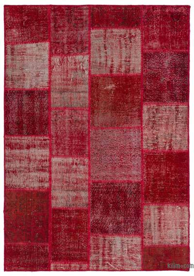 "Over-dyed Turkish Patchwork Rug - 5'3"" x 7'5"" (63 in. x 89 in.)"