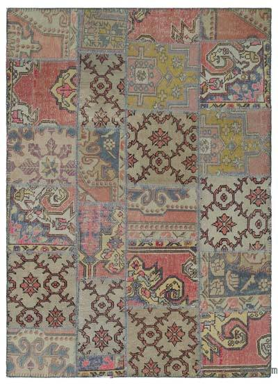 "Turkish Patchwork Rug - 5'3"" x 7'3"" (63 in. x 87 in.)"