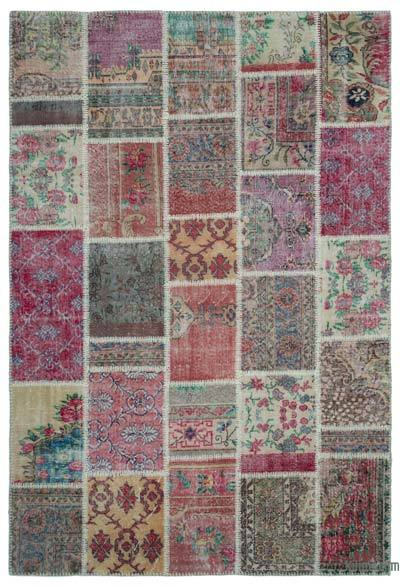 "Turkish Patchwork Rug - 6'3"" x 9'2"" (75 in. x 110 in.)"