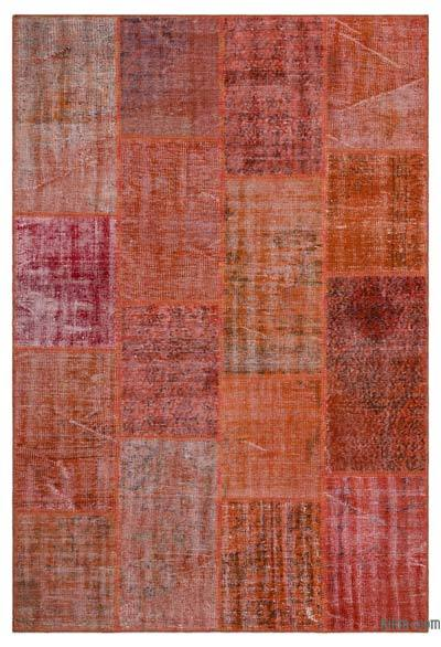 Over-dyed Turkish Patchwork Rug - 5'1'' x 7'7'' (61 in. x 91 in.)