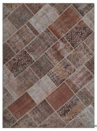 "Over-dyed Turkish Patchwork Rug - 5'3"" x 7'3"" (63 in. x 87 in.)"