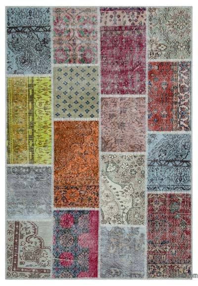 "Turkish Patchwork Rug - 5'2"" x 7'7"" (62 in. x 91 in.)"