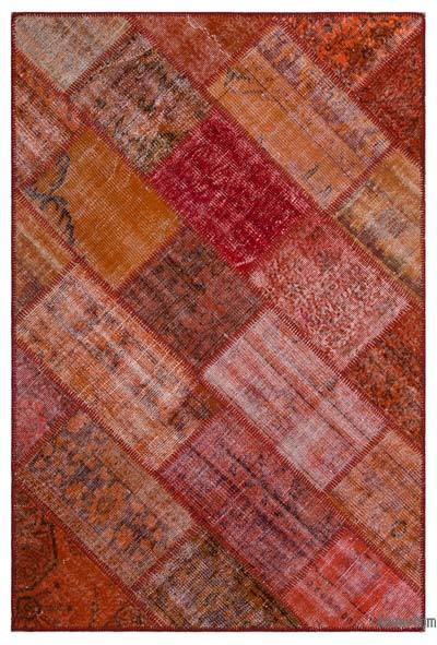 "Over-dyed Turkish Patchwork Rug - 3'11"" x 5'11"" (47 in. x 71 in.)"