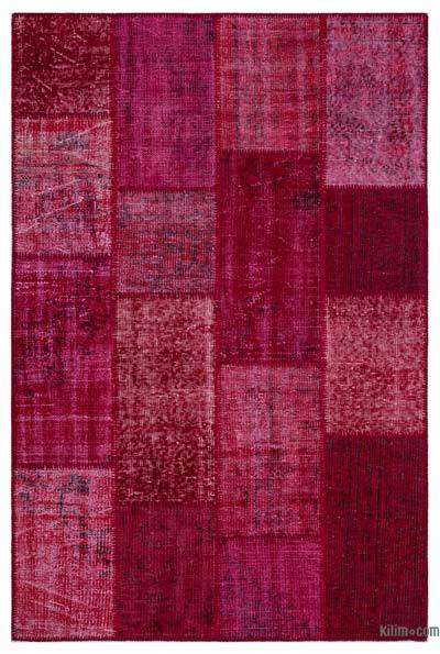 Over-dyed Turkish Patchwork Rug - 3'11'' x 5'11'' (47 in. x 71 in.)