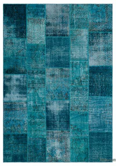 Over-dyed Turkish Patchwork Rug - 5'11'' x 8'7'' (71 in. x 103 in.)