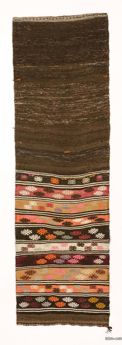 "Vintage Turkish Kilim Runner - 2'5"" x 7'9"" (29 in. x 93 in.)"