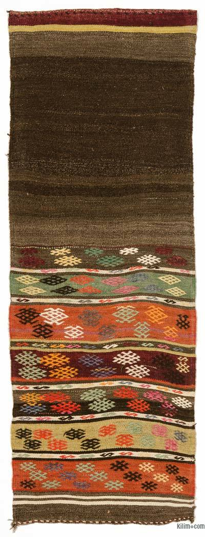 "Vintage Turkish Kilim Runner - 2'9"" x 7'11"" (33 in. x 95 in.)"