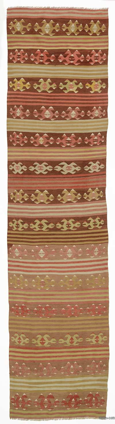 Multicolor Vintage Turkish Kilim Runner