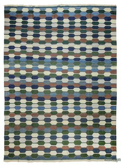 "New Handwoven Turkish Kilim Rug - 8'7"" x 11'8"" (103 in. x 140 in.)"