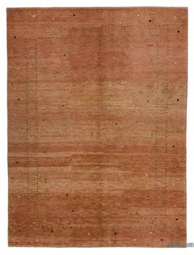 Brown New Turkish Pile Rug - 5'4'' x 7'2'' (64 in. x 86 in.)