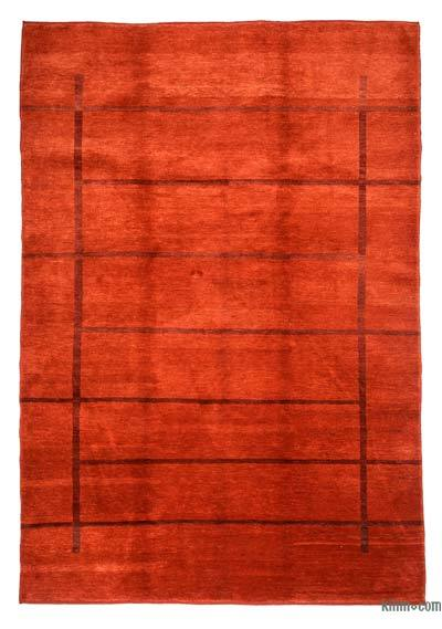 Red New Turkish Pile Rug - 6' x 8'8'' (72 in. x 104 in.)