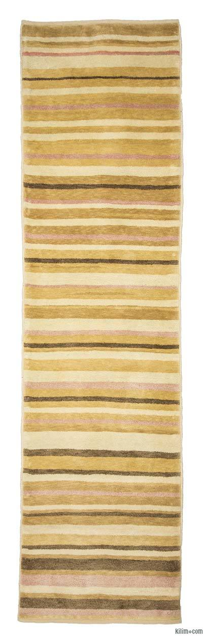 New Turkish Pile Rug - 2'7'' x 9'9'' (31 in. x 117 in.)