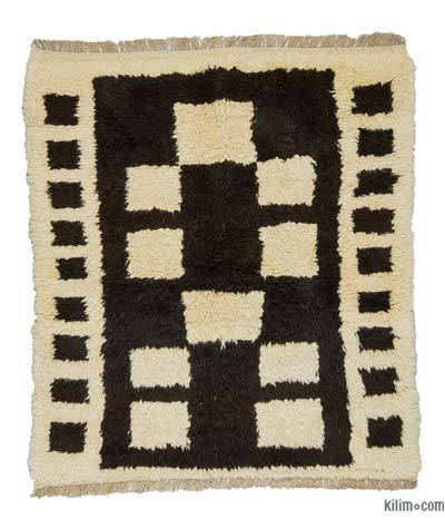 "New Turkish Tulu Rug - 4'4"" x 4'10"" (52 in. x 58 in.)"