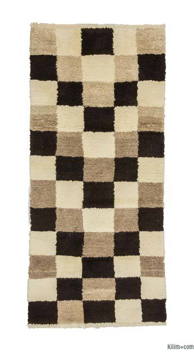 New Turkish Tulu Rug - 3'8'' x 7'11'' (44 in. x 95 in.)