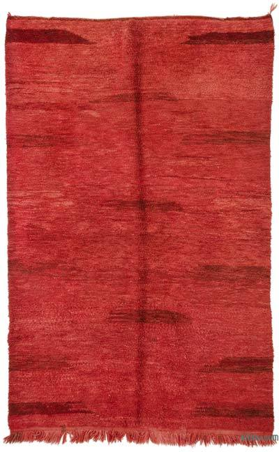 Red New Turkish Tulu Rug - 5'3'' x 8'4'' (63 in. x 100 in.)