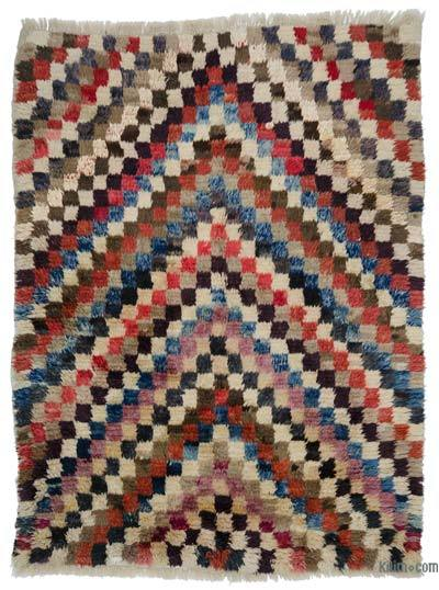 "New Turkish Tulu Rug - 6'3"" x 8'2"" (75 in. x 98 in.)"