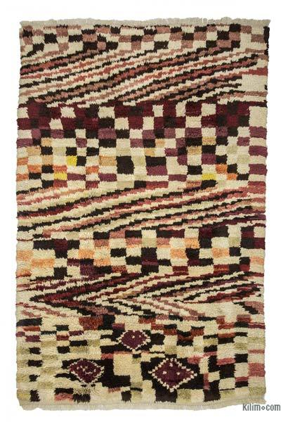 Multicolor New Turkish Tulu Rug - 6'8'' x 9'10'' (80 in. x 118 in.)