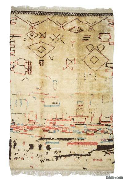 Beige New Turkish Tulu Rug - 6' x 9' (72 in. x 108 in.)