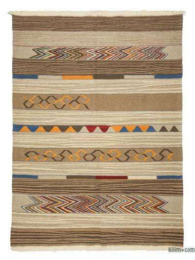 Brown New Turkish Kilim Rug