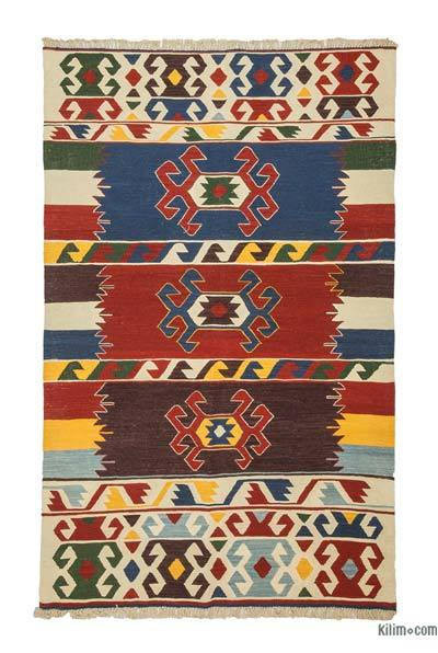"New Handwoven Turkish Kilim Rug - 4'1"" x 6'6"" (49 in. x 78 in.)"