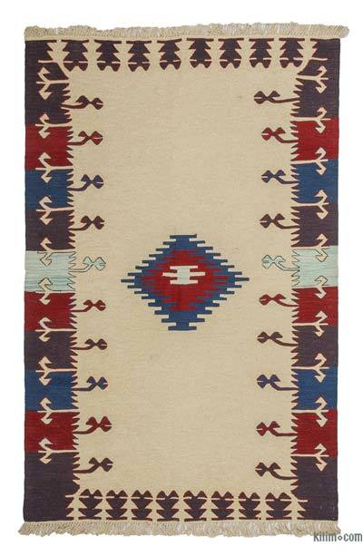 "New Handwoven Turkish Kilim Rug - 4' x 6'3"" (48 in. x 75 in.)"
