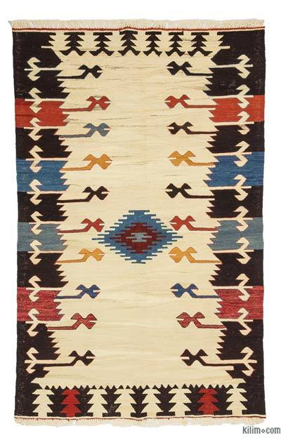 "New Handwoven Turkish Kilim Rug - 4'2"" x 6'9"" (50 in. x 81 in.)"