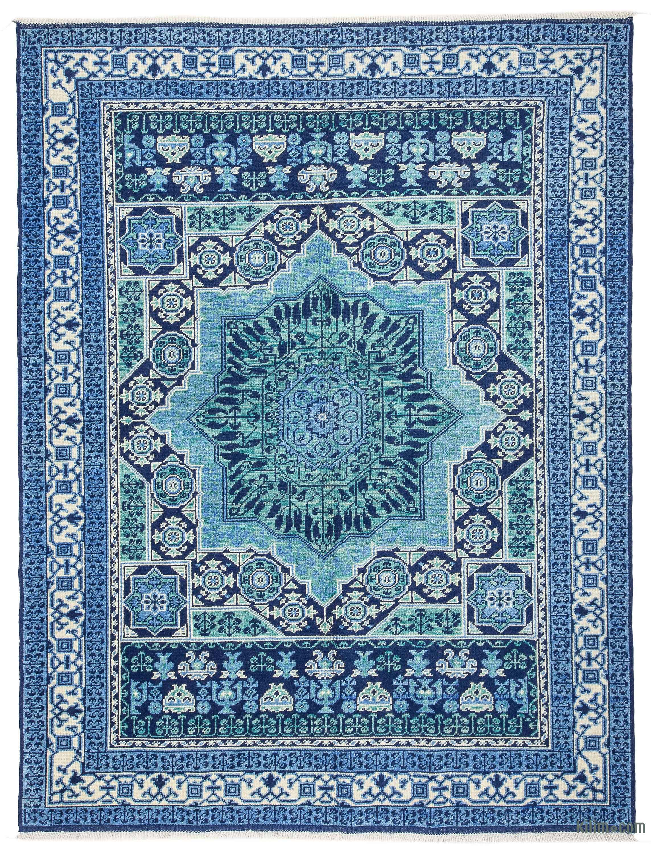 K0033285 Blue New Turkish Rug 5 9 X 7 7 69 In X 91