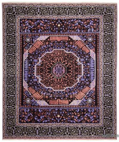 Multicolor New Turkish Rug - 8'7'' x 10'3'' (103 in. x 123 in.)