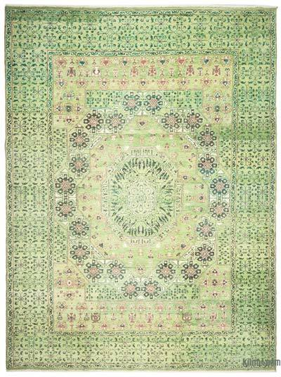Green New Turkish Rug - 8'2'' x 11'2'' (98 in. x 134 in.)