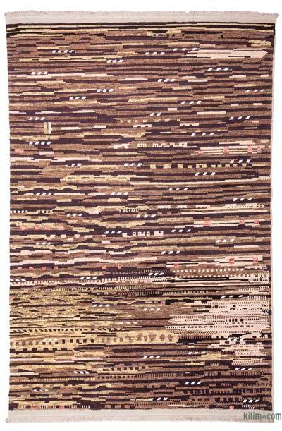 Brown New Turkish Rug - 5'7'' x 8'4'' (67 in. x 100 in.)