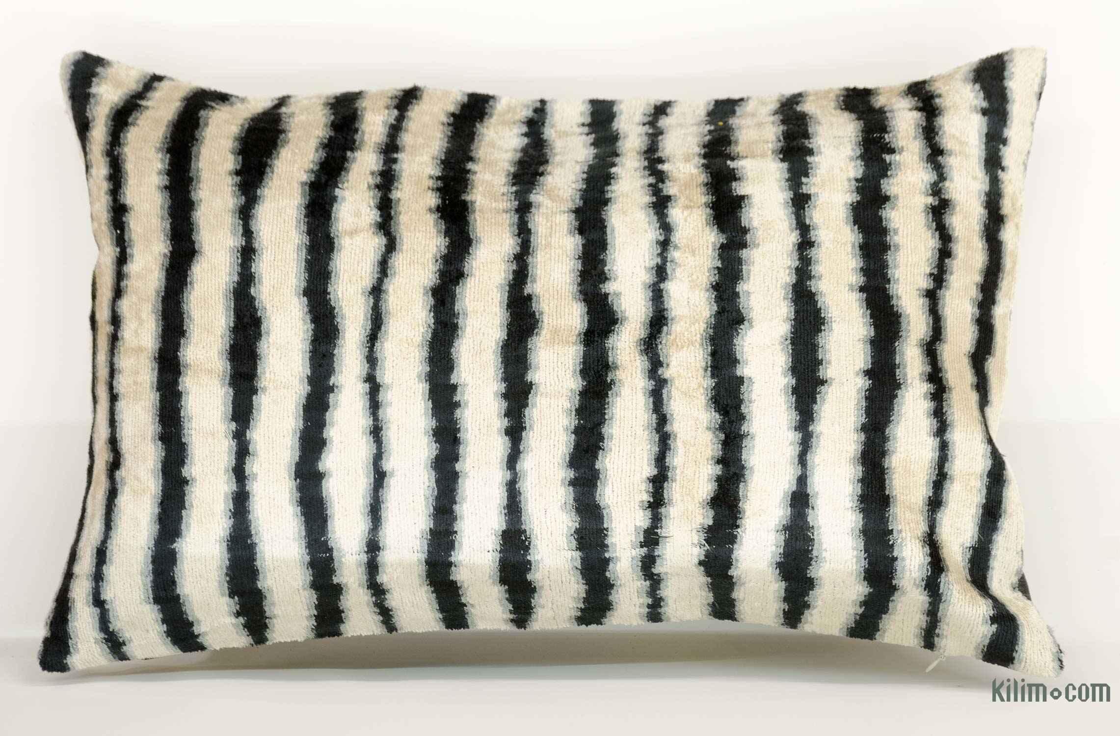 gray ikat pillow