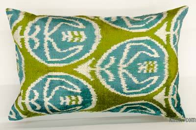 "Velvet Ikat Pillow Cover - 2' x 1'4"" (24 in. x 16 in.)"