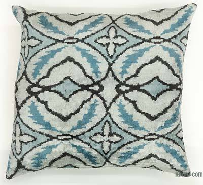 Velvet Ikat Pillow Cover - 2' x 1'10'' (24 in. x 22 in.)